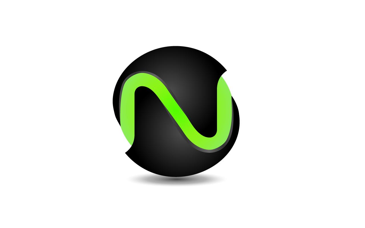 N creative Logo Wallpaper